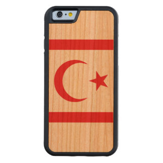 Northern Cyprus Flag Carved Cherry iPhone 6 Bumper Case