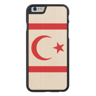Northern Cyprus Flag Carved Maple iPhone 6 Case