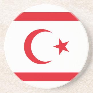 Northern Cyprus Flag Coaster