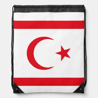 Northern Cyprus Flag Drawstring Bag