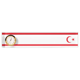 Northern Cyprus Flag Nameplate