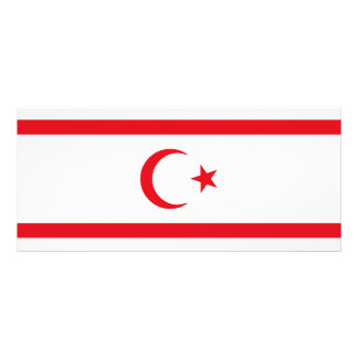 Northern Cyprus Flag Rack Card