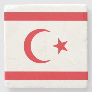 Northern Cyprus Flag Stone Coaster