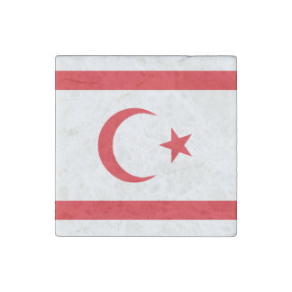 Northern Cyprus Flag Stone Magnet