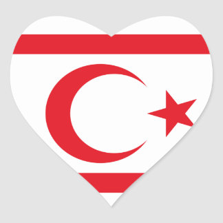 northern cyprus heart sticker
