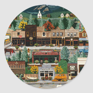 """Northern Exposure"" ~ Roslyn, Washington Classic Round Sticker"