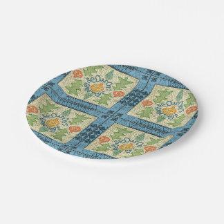 Northern Folk Seasons Greetings Paper Plate