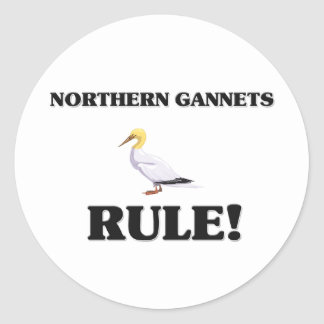 NORTHERN GANNETS Rule! Classic Round Sticker