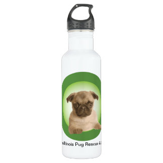 Northern Illinois Pug Rescue 710 Ml Water Bottle