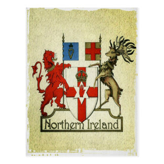 Northern Ireland coat-of-arms Postcard