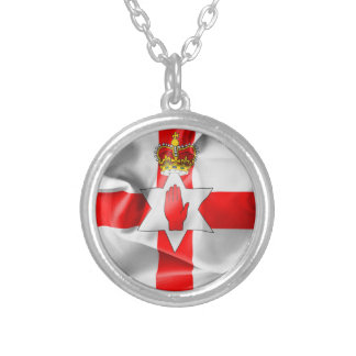 Northern Ireland Flag Round Pendant Necklace