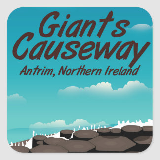 Northern Ireland Giants Causeway travel poster Square Sticker
