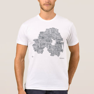 Northern Ireland Placenames Map T-Shirt