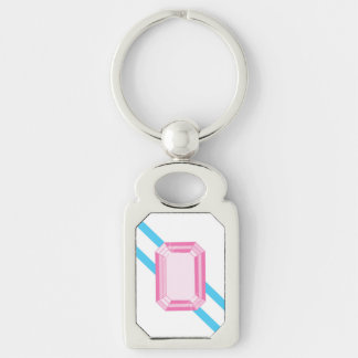 Northern Kunzite Keychain Silver-Colored Rectangle Key Ring