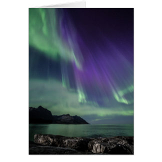 Northern Light folded greeting card with envelope