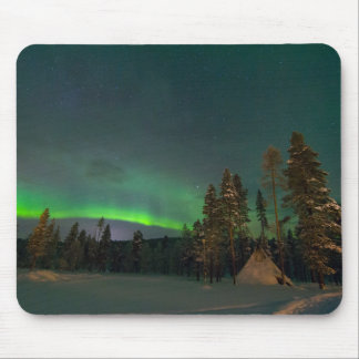 Northern light landscape with a kota mouse pad