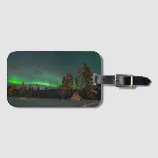 Northern Light luggage tag