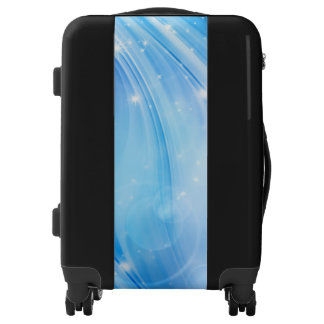 Northern Light Stars blue + your text & ideas Luggage