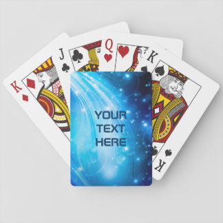 Northern Light Stars blue + your text & ideas Playing Cards