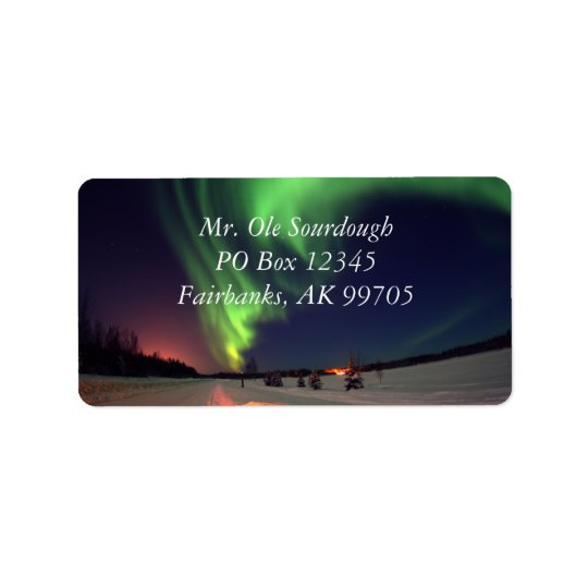 Northern Lights Address Label