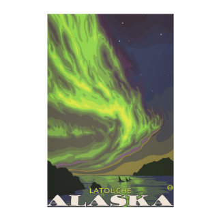 Northern Lights and Orcas - Latouche Alaska Canvas Prints