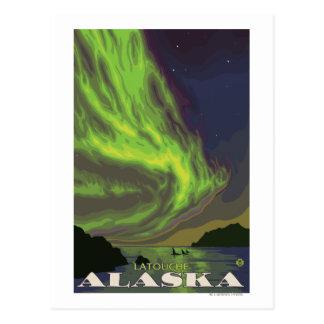Northern Lights and Orcas - Latouche, Alaska Postcard