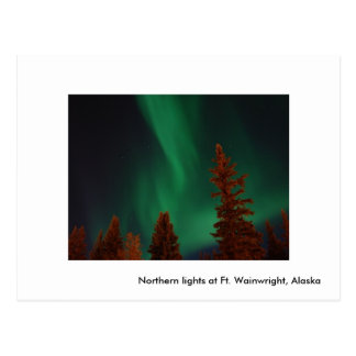 Northern lights at Ft. Wainwright, Northern lig... Postcard