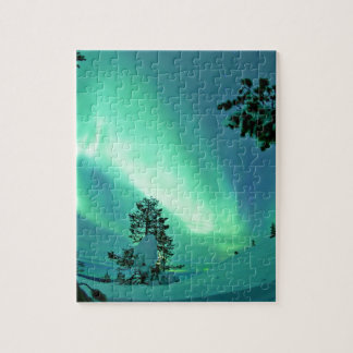Northern Lights at Winter Jigsaw Puzzle