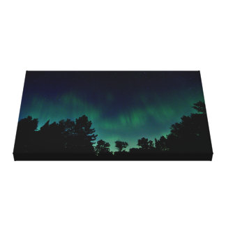 Northern Lights - Aurora Borealis Night Sky Photo Canvas Print