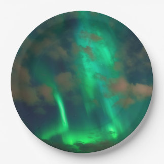 Northern Lights, Aurora Borealis Paper Plate