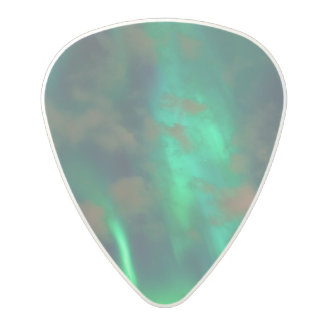 Northern Lights, Aurora Borealis Polycarbonate Guitar Pick