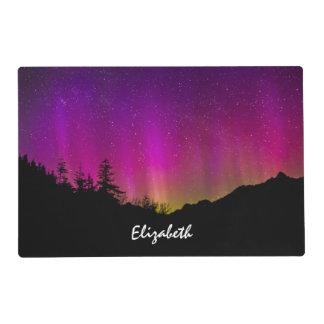 Northern Lights Aurora Borealis Starry Night Sky Laminated Place Mat