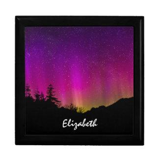 Northern Lights Aurora Borealis Starry Night Sky Large Square Gift Box