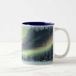 NORTHERN LIGHTS by SHARON SHARPE Two-Tone Coffee Mug