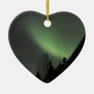 Northern Lights Ceramic Ornament