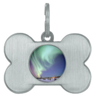 Northern Lights Chic Ribbon Of Lights Jade Glow Pet ID Tags