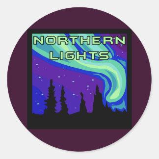 Northern Lights Classic Round Sticker