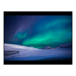 Northern lights custom personalize project home poster