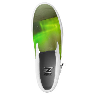 Northern Lights Custom Zipz Slip On Shoes Printed Shoes