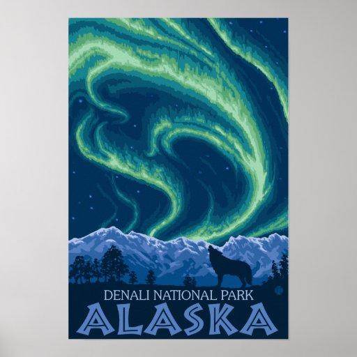Northern Lights - Denali National Park, Alaska Print