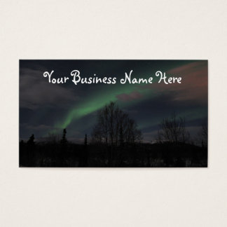 Northern Lights in Boreal Forest Business Card
