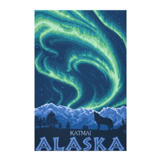 Northern Lights - Katmai, Alaska Gallery Wrapped Canvas