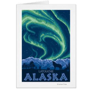 Northern Lights - Latouche, Alaska Card