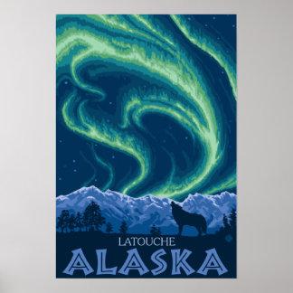 Northern Lights - Latouche Alaska Print