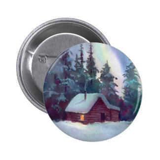 NORTHERN LIGHTS & LOG CABIN PIN
