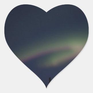 Northern Lights Loop Heart Sticker