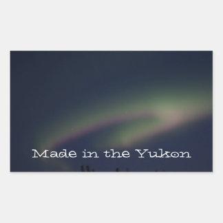 Northern Lights Loop; Yukon Territory Souvenir Rectangular Sticker