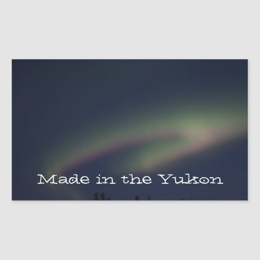 Northern Lights Loop; Yukon Territory Souvenir Rectangle Sticker