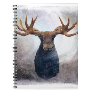 Northern Lights Moose Note Books