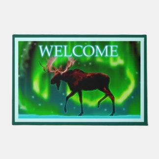 Northern Lights Moose - Welcome Doormat